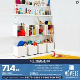 Prateleira porta-livros e brinquedos infantil 100% MDF