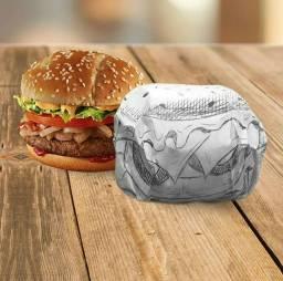 Papel acoplado para hambúrguer
