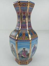 Vaso cerâmica chinesa art jingdezen 30cm