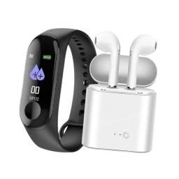 Relógio Inteligente + Fone Bluetooth TWS