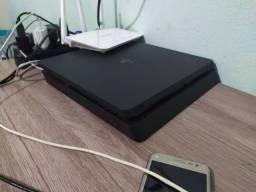 Playstation 4 Slim 500GB + 15 jogos + Controle