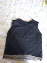 blusa preto com tule