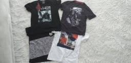 4 Blusas masculinas adolescente