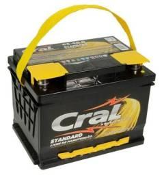 Bateria Cral 60ah 12x sem juros entrega gratis c3 gol siena palio strada hb20 1.6