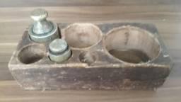 Pesos de Bronze com Cepo de madeira (200 e 400g)