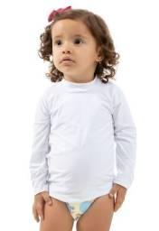 Camisa UV 50 FPS Branca 4 anos