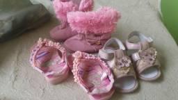 Lotinho de roupa e calçado de menina
