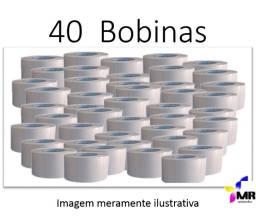 Etiquetas Adesivas Termicas 40x40 para Balança - Caixa com 40 Rolos 30m cada rolo
