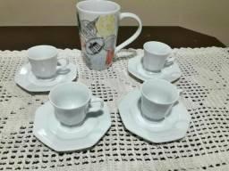 Jogo 4 xícaras cafézinho 1 caneca TUDO R$30,00