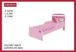 Cama infantil barata rosa nicole 1