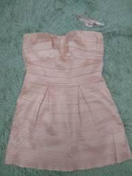 Vestido curto Rosé