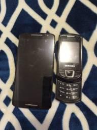Moto X Play e Samsung antigo para retirada de peças