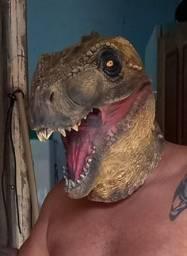 Mascara latex dinossauro