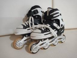 Patins Roller  - All Style Street Rollers (Preto) (Ajustável do  33 ao 33) BelSports