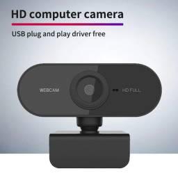 Webcam hd 1080p câmera web para pc com microfone para self vídeo ao vivo