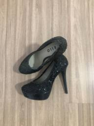 Sapato salto de paitê tamanho 35