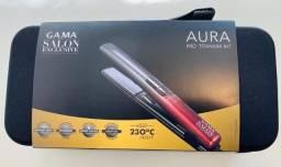 Prancha Gama Aura Pro Titanium IHT Bivolt nova