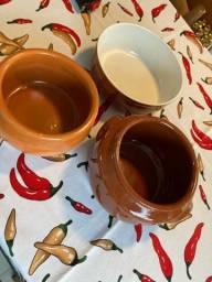 Kit bolws cerâmica para feijoada etc