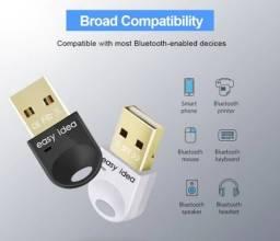 Adaptador Easy idea Usb Bluetooth 5.0 para PC e Notebook. Compatível com windows