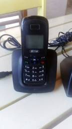 Telefones Tim fixo de chip sem fio, Intelbras sem fio fixo e Elgin com fio