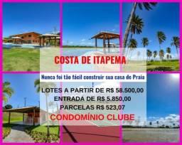 Lotes em Itapema - Condomínio Fechado, com Apenas 10% de Entrada e Praia Privativa,