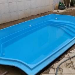 Sua piscina instalada está na Spaço Bh ! Piscina 5.00 x 2.60 x 1.20 confira!
