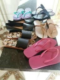 Kit 6 sandálias femininas