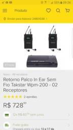 Retorno - Takstar Wpm200 - Com 2 receptores
