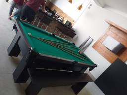 Mesa de MDF | Mesa Preta | Tecido Verde | Modelo: AEOO5150