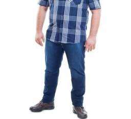 Calça jeans masc Plus Size
