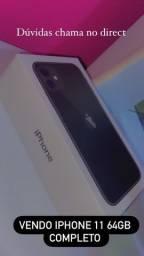 Vendo iPhone 11 64GB 1 ano de garantia com nota e tudo
