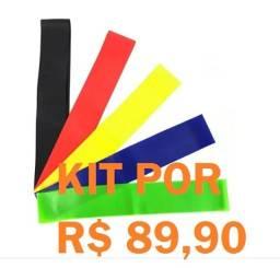Faixa Elástica - Mini Band / 5 Intensidades Por: R$ 89,90