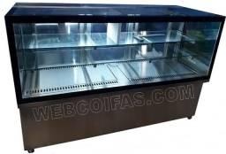Vitrine refrigerada balcao, para tortas e bolos, Vidro reto ou curvo. Direto da fábrica.