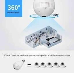 Lâmpada C/ Câmera de Monitoramento 360° Wi-Fi: