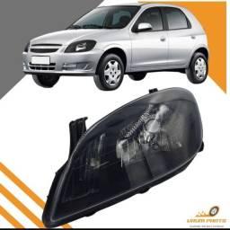 Farol Chevrolet Celta 2007 2008 2009 2010 2011 2012 2013 2014 2015 Prisma Máscara Negra