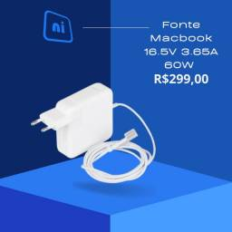 Fonte Macbook 16.5V 3.65A 60W (1 ano de garantia )