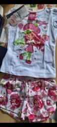 Título do anúncio: Conjunto de blusa e short infantil, TAM. M
