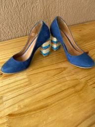 Sapato Hiz azul marinho salto corda n. 35