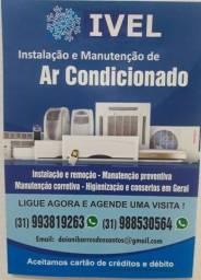Instalação, manutenção e remoção de ar condicionado