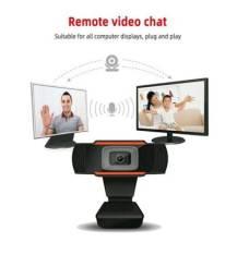Webcam 1080p Mais Microfone USB Para Pc Notebook