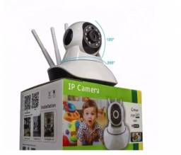 Camera wifi, com visao noturna e movimentação de 360 Graus