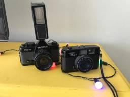 Duas Cameras fotografica com defeito analogicas