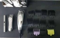 Kit Wahl Máquina de Cortar Cabelo e Barba Clipper Deluxe Groom Pro 110v