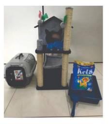 Kit com arranhador casinha