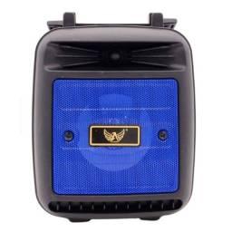 Caixinha de Som Bluetooth Altomex AL-1181 Caixa Recarregável Portátil Usb Rádio Fm Azul