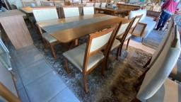 Mesa don bosco 6 retangular de madeira maciça pura