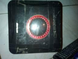 Caixa míni aprificadora para PC notebook duas e fones red