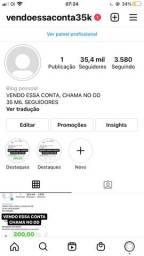 conta no instagram (35 mil seguidores)