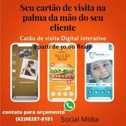 Seviço de social mídia, cartão de visitas digital, aparti de 50 reais