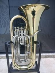 Euphonium Bombardino Weril H980 Sib Personalizado Semi Novo-Troco-Parcelo